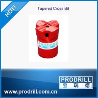 Buy cheap Tapered cross drill bits dia33-40mm for stonework from wholesalers