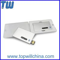 Metal Slip Credit Card 16GB Usb Flash Disk for Company Gift with Logo Printing