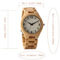 Buy cheap Fashion Vintage Men Bamboo Wrist Watch , Japan Movement Quartz Watch Hand Made from wholesalers