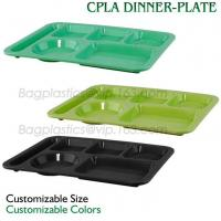 Buy cheap 5 Compartment Lunch Box Disposable Plastic Food Container, biodegradable Fast Food Tray, disposable safety meat tray from wholesalers