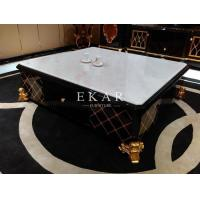 Buy cheap Slate Coffee Table Marble Chess Table Modern Glossy Furniture Table Stone Coffee Table TT- from wholesalers
