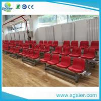 Buy cheap University Tiered Seating Aluminum Stadium Bleachers Mobile With Red Chair / Wheel from wholesalers