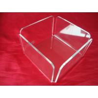 Buy cheap Clear Plexiglass / Acrylic Tissue Box For 10cm x 8cm Paper Sheets product