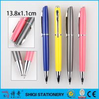 Buy cheap colorful metal pen twist advertising gift pen inclined top metal pen shinny tip from wholesalers