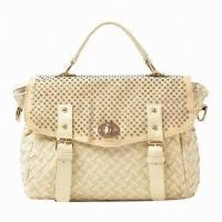 Buy cheap Crocheted Stylish Ladies Leather Briefcase For  Girls School Dating from wholesalers