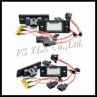 Buy cheap car number plate lamp canbus design led license plate light for porsche cayenne/vw from wholesalers