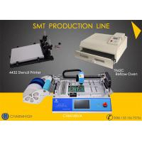 Buy cheap 29 Feeders CHMT48VA + 4432 Stencil Printer + Reflow Oven T962C SMT Production Line , Prototype Batch production from wholesalers