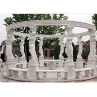 Buy cheap Durable Decorative Landscaping Stone For Hand Carved Marble Gazebos from wholesalers
