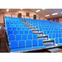 Buy cheap Customized Retractable Indoor Bleachers Retractable Audience Seating Upholstered GYM product