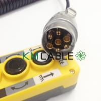 Buy cheap 1.5 Meter Spiral Cable Assembly Electric Cord 3 Pole Earth Length Power Extension from wholesalers