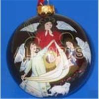Buy cheap Angel christmas ball,inner angel christmas glass ball,custom angel glass ornaments from wholesalers