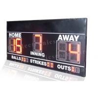 Buy cheap Electronic 7 Segments LED Baseball Scoreboard Front Face UV Protection from wholesalers