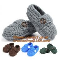 Buy cheap Baby Booties, Socks Knitted, Newborn Loafers Shoes Plain Infant Slippers Footwear, knitwea from wholesalers