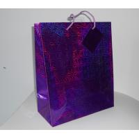 fashion paper gift bag with customised size nice design and mini tag holographic paper bag