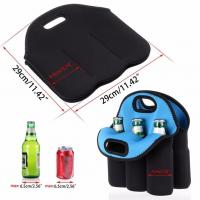 Buy cheap Neoprene 6 -pack bottles beer cooler holder bag/ Insulated Water Bottle Wine Neoprene Cooler 6 Pack Beer Can Holder from wholesalers