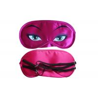 Buy cheap Beautiful Soft  Satin Material Sleep Mask With Eyes Rose Red Color from wholesalers