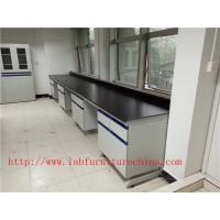 Buy cheap 1500 mm   Width  Steel Wood Frame Blue /  White Science Lab Testing Tables Used  Furniture For High School / Hospital from wholesalers