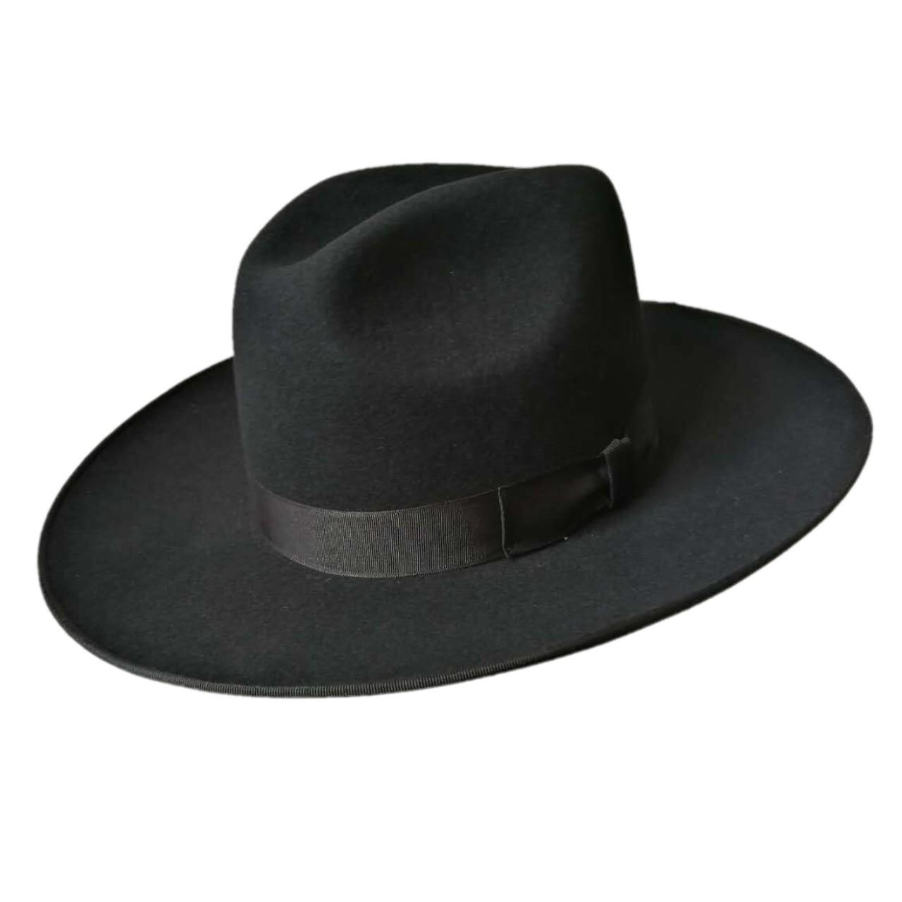 Buy cheap Men's felt hats Rabbit fur felt Jewish hat, jewish hat borsalino, Israel, Top Hat from wholesalers