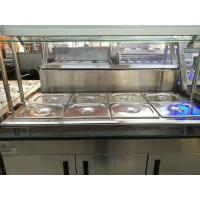 Buy cheap Marble Stainless Steel Catering Equipment Hot Food Unit Standing Bain Marie 1600*900*800+560mm from wholesalers