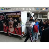 Buy cheap 9 Motion Seats Mobile Trailer 5D Movie Theater , Truck Mobile 5D Cinema product