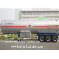 Buy cheap 17 tons - 30 tons 3 axles LPG Semi Trailer , Gas Propane Tank Trailer 60000 liters from wholesalers