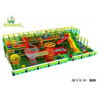 Buy cheap Wooden Indoor Children Play Zone Theme Park With Net World Big Slide from wholesalers