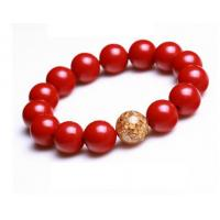 Buy cheap Taiwan genuine natural crystal bracelet natural cinnabar Cinnabar Cinnabar gold from Wholesalers