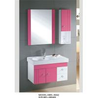Buy cheap 70 X 45 / cm white vanity cabinets for bathrooms , waterproof bathroom cabinets Aluminium handles from wholesalers