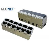 Buy cheap Class Filled PBT LAN RJ 45 Connector 2 x 6 Stacked Magnetic RJ45 Connector from wholesalers