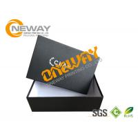 Buy cheap Custom Printed Gift Boxes , Black Custom Hard Paper Magnetic Closure Gift Box from wholesalers