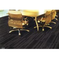 Buy cheap Meeting Room And Office Floor Carpet Tiles Black With 100% Nylon 50*50cm from wholesalers
