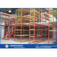 Buy cheap Multi Level Warehouse Storage Racking Supported Steel Mezzanine Floor from wholesalers