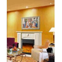 Buy cheap Imitation Antique Marble Fireplaces , Wall Mounted Decorative Flame LED Electric Fireplace from wholesalers