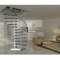 Buy cheap Indoor Custom Spiral Staircases With Stainless Steel Handrail from wholesalers