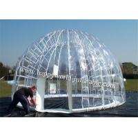 Buy cheap inflatable clear dome tent , clear plastic tent , inflatable transparent tent from wholesalers