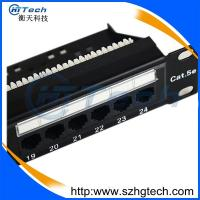 Buy cheap RJ45  UTP 24 Port Cat5E Patch Panel from wholesalers