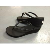 Buy cheap Promotion Die Cut Sole Pvc Strap high heel Girl Flip Flops for Wedding SGS Approval from wholesalers