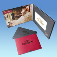 Buy cheap High End Business Gift 4.3 Inch Christmas Video Greeting Cards With Artwork Printing from wholesalers