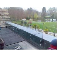 Buy cheap Modern Exterior Toughened Glass Balustrade Panels , Building Glass Guardrail from wholesalers