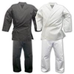 Buy cheap Custom Lightweight Karate Gi / Black Karate Uniform 100cm - 150 cm Size from wholesalers