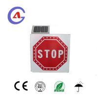 Buy cheap Solar LED traffic warning sign, Aluminum square high visibility flashing led stop signs from wholesalers