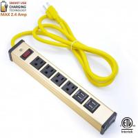 Buy cheap Multi Outlet Desktop Power Strip With USB , Slim Power Bar With USB Charger product