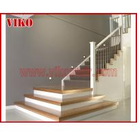 Buy cheap Wrought Iron Staircase VK80S  Wrought Iron Handrail Tread Beech ,Railing tempered glass, Handrail b eech Stringer,carbon from wholesalers