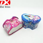 Buy cheap promotional tin box,gift tin box,double heart tin box with lock,money tin box from wholesalers