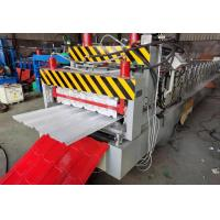 Buy cheap 5kw Roof Tile Roll Forming Machine , Smooth Cutting Style Tile Roof Machine from wholesalers