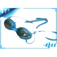 Buy cheap Mirrored Design Anti fog Swim Goggles , Swimming Eyeglasses For Eye Protect from wholesalers