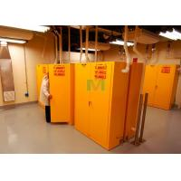 Buy cheap Vertical Type Yellow Flammable Storage Cabinet For Combustible Chemicals from wholesalers