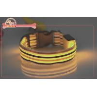 Buy cheap Safety Night Striped Nylon LED Pet Collar Applied To S M L XL , light up dog collar from wholesalers