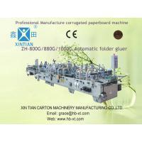 Corrugated Carton Folder Gluer Machine For Printing Industrial