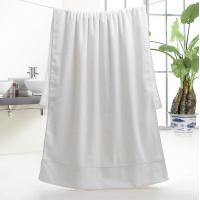 Buy cheap 5 Star Hotel 32S Satin 100% Cotton Bath Towel 70*150cm, 600g for wholesale, logo embroidered acceptable from wholesalers